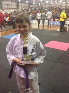 Karate Competitor Sarah Wright